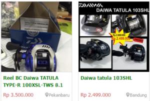 Spesifikasi Harga Reel Daiwa Tantula Terbaru